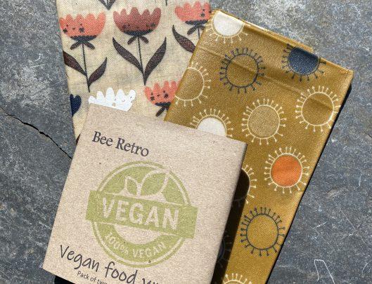 beeretro, beeretro.co.uk, vegan wrap, vegan food wrap, vegan, food wrap, GOTS certified, organic fabric,