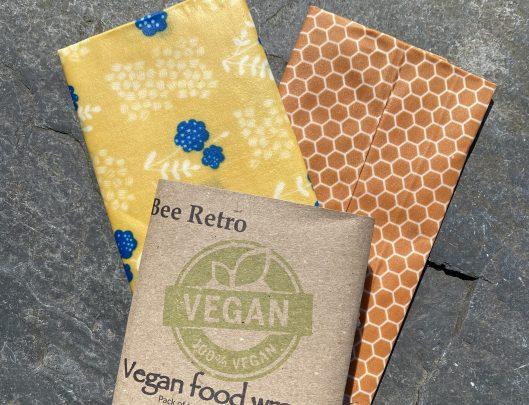 vegan wrap, vegan food wrap, beeretro, beeretro.co.uk, organic wrap, plant based, plastic free wrap, plastic free, food wrap uk, food wrap Cornwall, Cornwall,