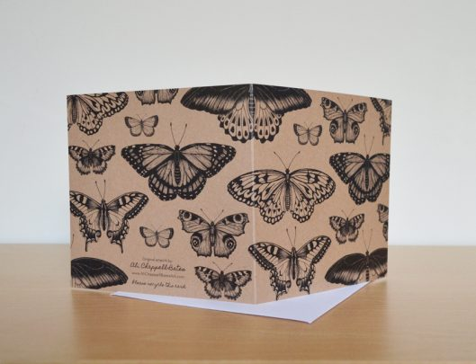 recycled butterfly card